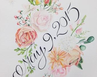 Wedding watercolor