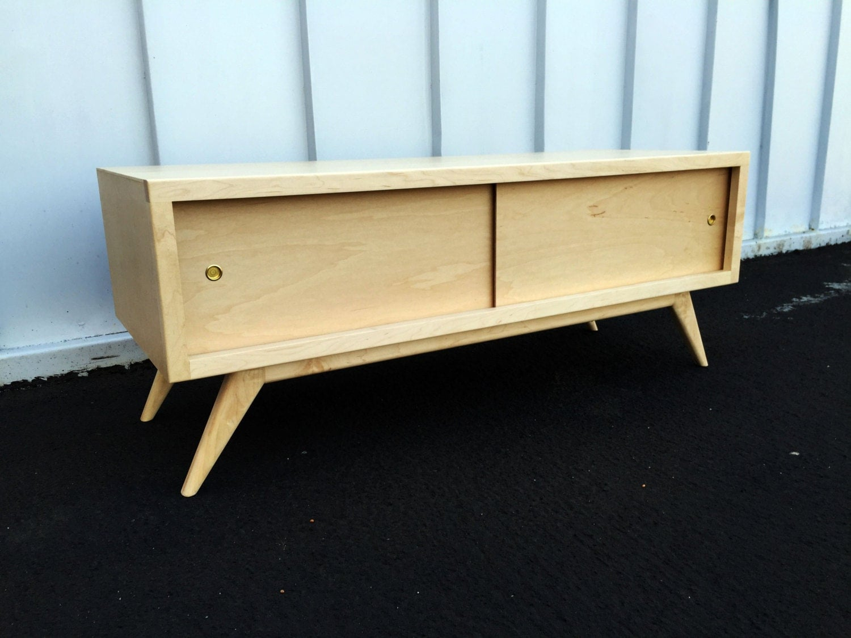 mid century moderntv console credenza tv stand modern. Black Bedroom Furniture Sets. Home Design Ideas