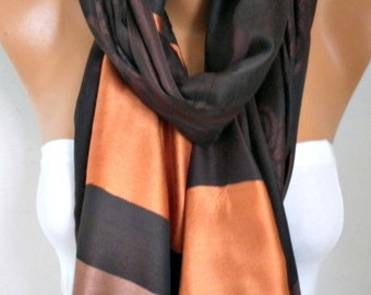 Brown Tones Shawl, Wedding Shawl,Evening Wrap,Cowl, Oversize, Bridesmaid Gift, Gift Ideas For Her, Women Fashion Accessories Women Scarves