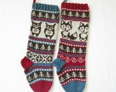 Pattern Owl and Fox Christmas Stockings and Stranded Knitting Fair Isle Knit Your Own