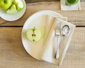 Ecru Broad Stripe Dinner Napkins (Set of 2)