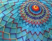 Crochet Canopy Cover - Giant Mandala Web - Festival Tent Cover - Coachella - Burning Man - Lightning in a Bottle