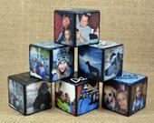 "1.25"" Custom Personalized Wooden Photo Blocks"