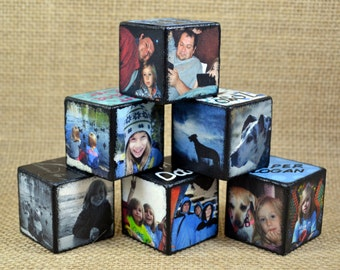 "1.25"" Custom Personalized Wooden Photo Blocks"