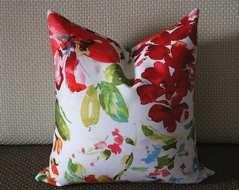 Luxurious Rebecca Floral Pillow Cover,Colourful Floral Pillow Cover,Watercolor Floral Pillow Cover,Outdoor pillows,flower pillow,Pillows 271