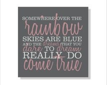 Rainbow, Children's Canvas, Nursery Wall Art-Stretched Canvas