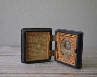 Miniature Cased Ambrotype