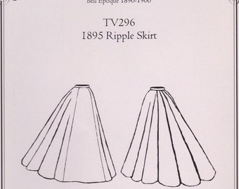TV296 - Truly Victorian #296, 1895 Ripple Skirt Sewing Pattern