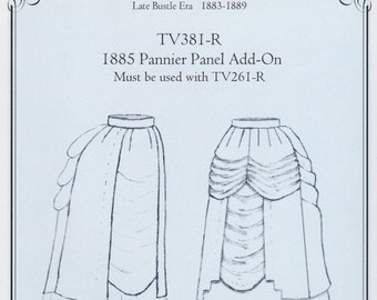 TV381 - Truly Victorian #381, 1885 Pannier Panel Add-On Sewing Pattern