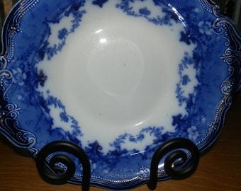 Ridgway Flow Blue Serving Bowl-Verona pattern