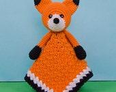 Flynn the Fox Lovey / Security Blanket - PDF Crochet Pattern - Instant Download - Blankie Baby Blanket