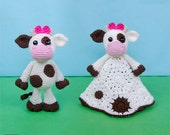 Combo Pack - Doris the Cow Lovey and Amigurumi Set for 5.99 Dollars - PDF Crochet Pattern - Instant Download - Special Offer Pack