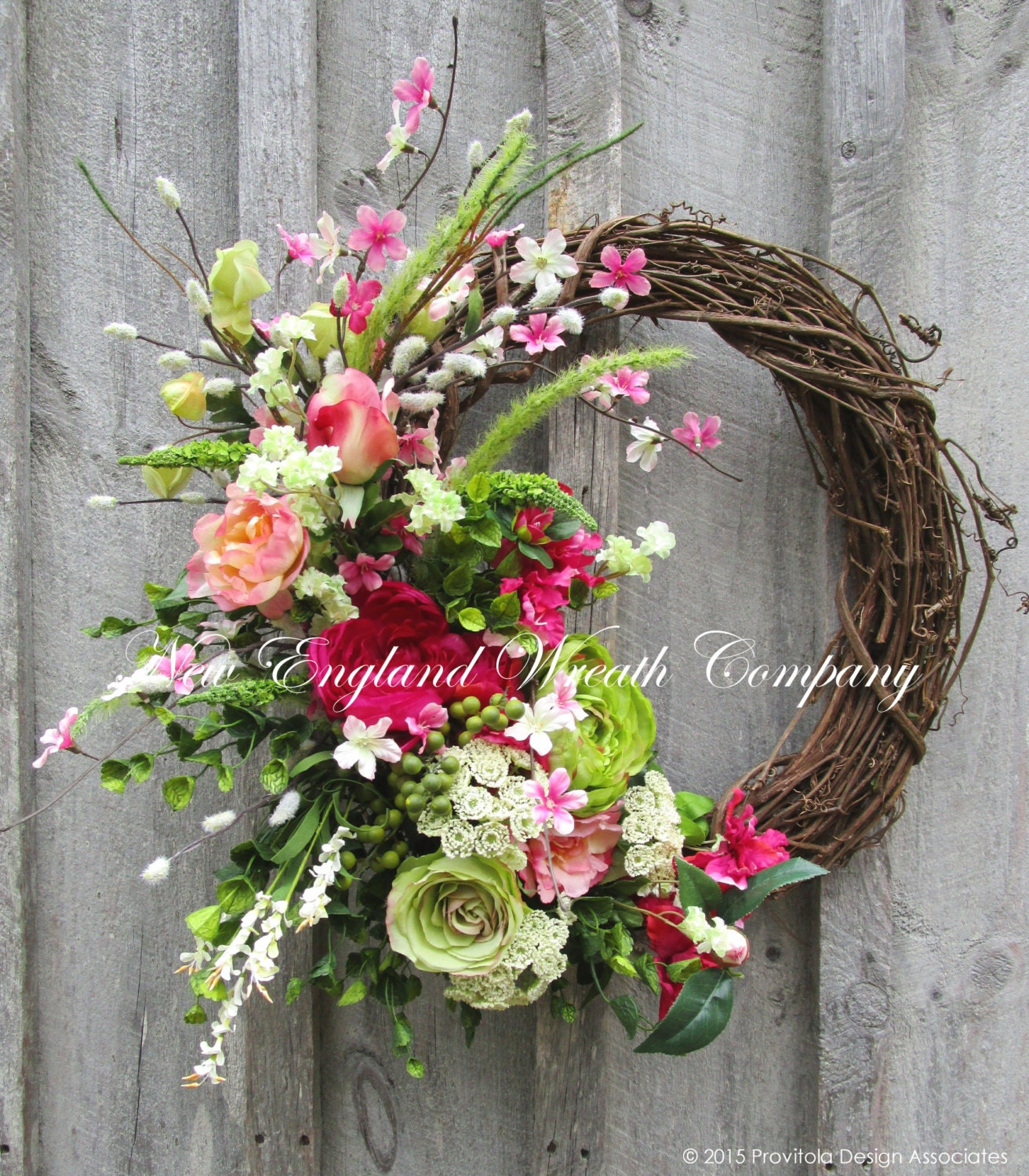 Spring Wreath Easter Wreath Spring Floral Elegant Spring |Spring Flower Wreath