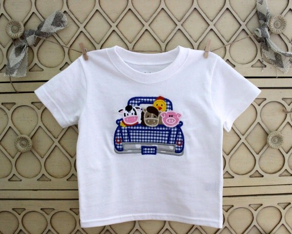 Little blue truck t shirt by cottonandsunshine on etsy for Little blue truck fabric