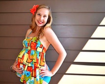 SEW Classy Maternity Swimsuit - 2 Piece Tankini, CUSTOM, Made to Order!