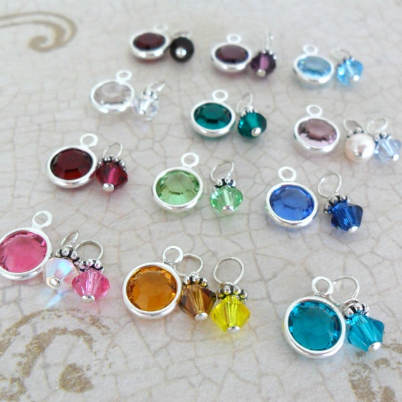 Add a Silver Crystal Drop | Add a Birthstone | Addition to Your Sarah B. Handcrafted Order