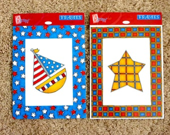 """Stars & Stripes Frames and Die Cuts by """"O Scrap!"""" - 4 sheets for Scrapbooking/Card Making - 2 of each design"""