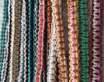 KIDS Boys & Girls - Tie On - Macramé Hemp Braclets - Pick your Two favorite color(s)