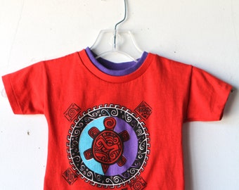 90s grunge baby TURTLE power red t-shirt