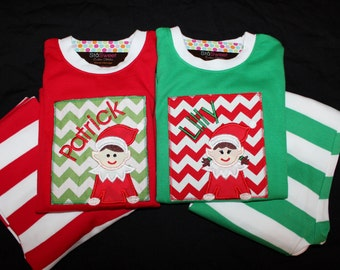 Personalized Christmas Pajamas PREORDER through AUGUST 4 - Your choice of applique and personalization