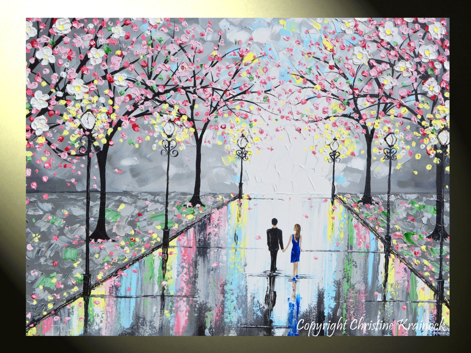Giclee Print Art Abstract Painting Couple Large Canvas Prints