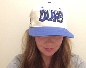 Vintage 1990's Duke Snapback! Retro Blue Devils Hat!