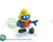 1980s Toy Smurf PVC Figure: Football Smurf