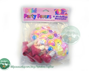 Vintage Lisa Frank Party Favors: Kitten Medallion Blowouts Unopened