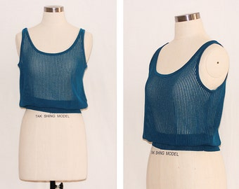 Vintage Open Stitch Knitted Vest