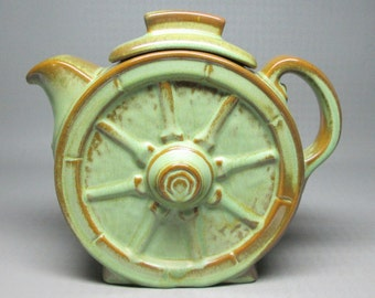 FRANKOMA wagon wheel pitcher , this one has the lid and the original label , 94 T 94T
