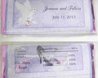 Gay wedding favors- personalized Hershey bars