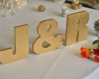 Name sign wooden letters INITIALS. Wedding custom sign. Custom wooden letters. Name sign wedding table decor. Wedding initials top table