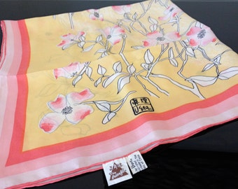 Vera Neumann Silk Scarf - Peoples Republic of China - Hand Printed