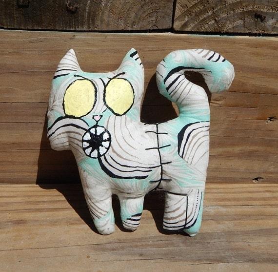 Zombie cat Graveyard cute stuffed plush stuffed cat toy for adults art doll