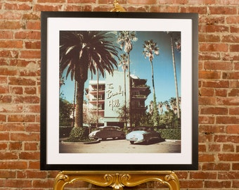"""42""""x 42"""" XL Large - Slim Aarons - Beverly Hills Hotel FRAMED PRINT Hollywood"""