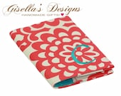 Bright coral and teal Passport Cover, Personalized Passport Holder, Custom made Passport Cover, floral travel accessories, unique gifts.