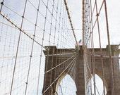 New York City Photography, Brooklyn Prints, Iconic NYC, Architecture Photography, Industrial Wall Decor, Bridge Art, The Brooklyn Bridge