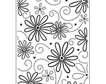LARGE PETAL Embossing Folder by Darice Size A2