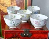 SALE 45% OFF Japanese Tea Cups, Chawan, Botanical Tea Bowls, Designer Tea cups Vintage Ceramics Unusual Teaware Kyo-yaki Pottery Yuki Torii