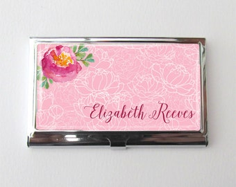 Business Card Holder, Personalized Business Card Case,