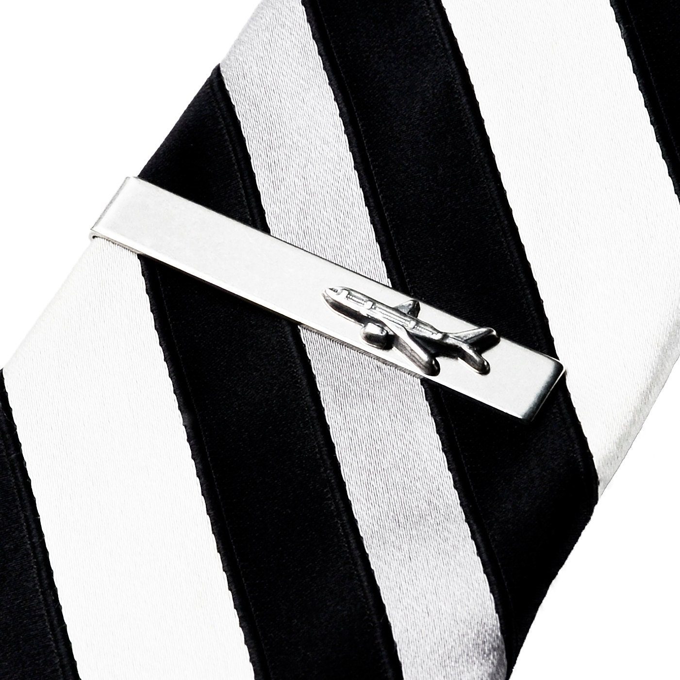 airplane tie clip tie bar tie clasp business gift by mancornas