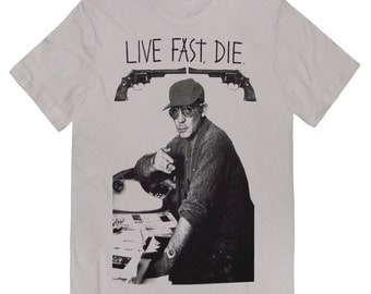 Hunter S. Thompson LIVE FAST DIE T-shirt