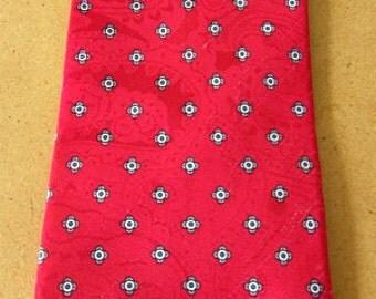vintage 70s red print silk necktie egon von furstenberg usa