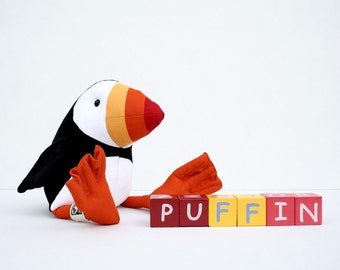 Puffin Plush Birdie, Cuddly Puffin Soft Toy