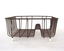"Vintage Rubbermaid Dish Drying Rack Wire Metal Brown Harvest Gold 1970s 2913 Kitchen (as-is, see ""Item Details"")"