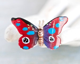 Colorful Butterfly Brooch - Lapel Pin