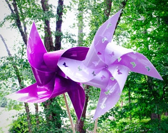 "4 Waterproof Cutout Butterfly Xtra Large 17"" Pinwheels"