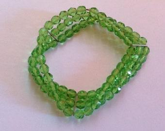Vintage Bracelet Peridot Crystals