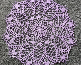 New 20'' Handmade crochet doily 100% cotton ,lace doily, table decoration, crocheted place mat, center piece, doily tablecloth