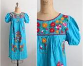 70s Lupita Mexican Dress / Size S/M
